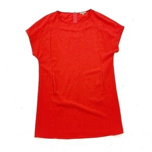 NWOT Lilla P Red Shift Dress Short Sleeves Small